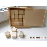 Набор деревянных кубиков в коробке 30*30 (20 шт)