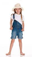 Детский джинсовый полукомбинезон