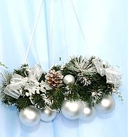 Венок новогодний с шарами 40 см