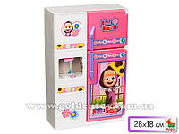"""Мебель для куклы №963611""""Маша и медведь""""холодильник,свет,звук,в коробке,32х23х10см."""