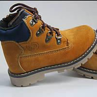 Детские кожаные Timberland ботинки осенние копия
