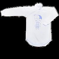 Детский боди-гольф р. 80 с начесом ткань ФУТЕР (байка) 100% хлопок ТМ Алекс 3189 Голубой