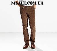 Вельветовые джинсы Levi's 511 Slim Fit Rinsed Corduroy Pants, Bittersweet