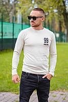 """Мужской стильный пуловер """"99"""" с накаткой"""