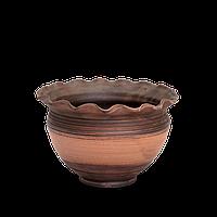 Горшок - волна глиняный (макитра) Этно EA01 Покутская керамика
