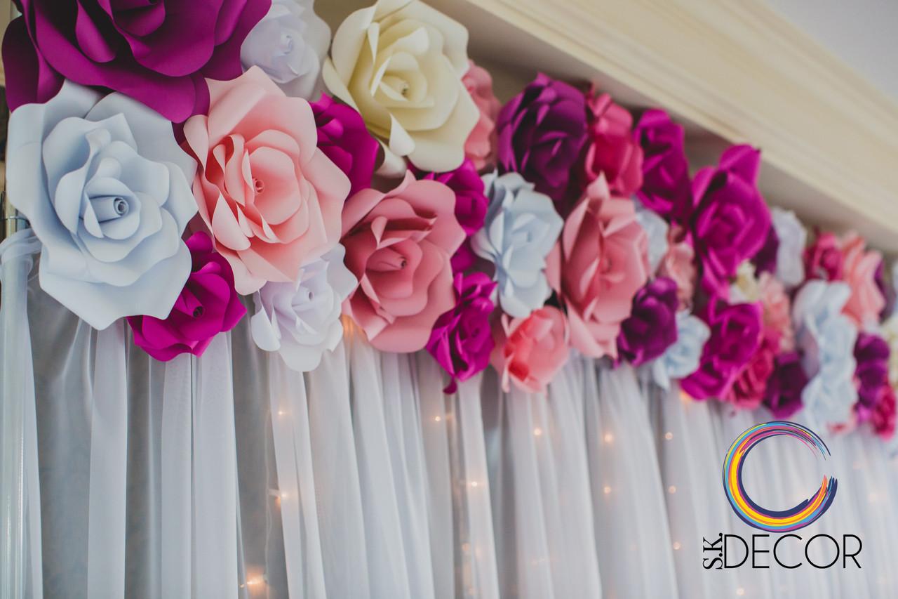 Цветы из бумаги на свадьбу фото