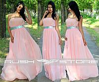 Шифоновое платье в пол с пайетками