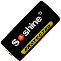Аккумулятор литиевый Li-Ion CR123A / 16340 Soshine 3.7V (700mAh), защищенный (11-1007)
