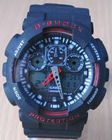 Часы Casio(Касио) G-Shock GA100 черные с красным