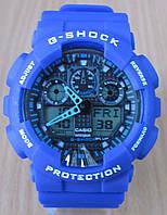 Часы Casio(Касио) G-Shock GA100 синие