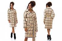 Женское пальто Плед беж.