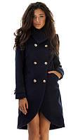 Пальто женское фрак на пуговицах, фото 1