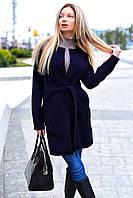 Легкое кашемировое пальто с запахом на каждый день