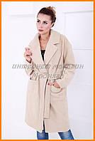 Женское свободное пальто на осень весну
