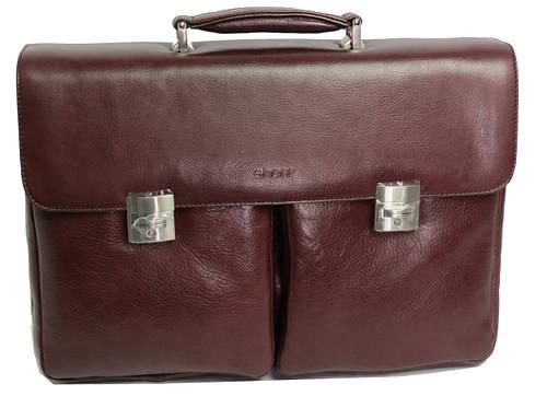 Большой деловой портфель из качественной кожи Sheff S5003 коричневый