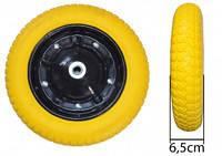 Колесо литое полиуретан BudMonster 3,0*8  o/d= 16 желтое