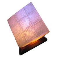 """Cертифицированный соляной светильник """"Куб"""" 9-10 кг с цветной лампочкой из солотвинской соли """"Соликом"""""""