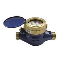 Водяной счетчик мокроход Sensus 2,5: максимальный расход 5 м³/ч, не боится затопления, корпус латунь