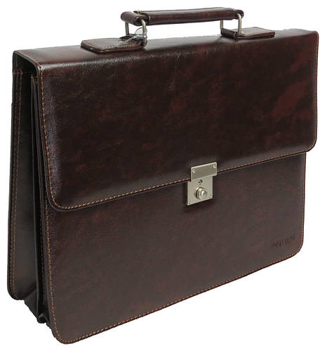 Портфель деловой из искусственной кожи 4U Cavaldi, B020139 коричневый
