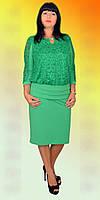 Женское платье большого размера (Б.Н.З.) Размеры: 52,54,56,58,60,62