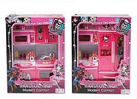 Кухня для кукол Монстер Хай QF26213-15MH: посуда, свет, звук, 2 вида, коробка 27х34,5х9,5 см