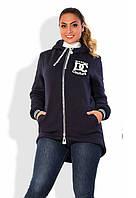 Куртка женская на флисе полу батал, фото 1