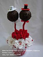 """Букет из конфет.дерево  """"Влюбленная пара"""""""