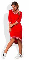 Платье женское с карманами полу батал, фото 1