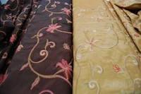 Ткань партьерная тафта с вышевкой  Гламур 280 см
