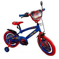 Велосипед 18 дюймов колеса 141807, ручной тормоз, зеркало, светоотражатели, страховочные колёса