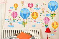 """Интерьерная виниловая наклейка на стену в детскую """"Воздушные шары"""""""