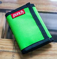 Кошелек из водоотталкивающей ткани PUNCH Cash, Acid Green