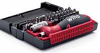 Набор бит 32 штуки, Wiha, c многокомпонентной магнитной ручкой и магнитным держателем бит
