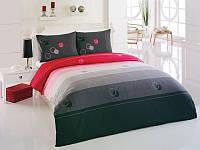 Комплект постельного белья Kristal (Турция) Deniz серый, 200х220