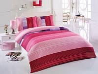 Комплект постельного белья Kristal (Турция) Ege розовый, 200х220