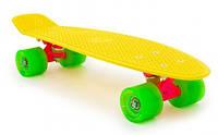 Пенни Борд Miller «Флюоресцентный Желтый» 22,5″ Зеленые Колеса / пенниборд скейт (penny board), скейтборд