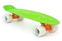 Пенни Борд Miller «Флюоресцентный Зеленый» 22,5″ Белые Колеса / пенниборд скейт (penny board), скейтборд
