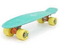 Пенни Борд Miller «Водяная Синева» 22,5″ Желтые Колеса / пенниборд скейт (penny board), скейтборд