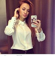 Блуза с воротничком и длинным рукавом