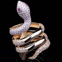 """Золотое женское кольцо """"Змея"""""""