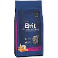 Корм для котів (Бріт) BRIT CAT ADULT SALMON 8 кг - для взрослых кошек