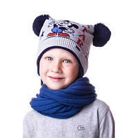 """Модная детская шапочка на мальчика с """"Микки Маусом"""""""