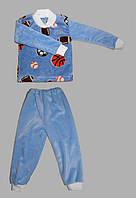 Пижама из махры велсофта для мальчиков 1-9 лет