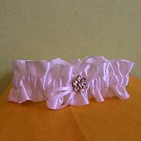 Свадебная подвязка с брошью