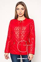 Женская осенняя куртка  20167 красная 42-48 размеры