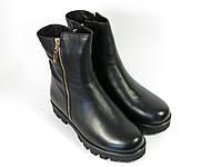 Кожаные зимние женские ботинки