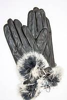 Кожаные перчатки среднего размера, фото 1