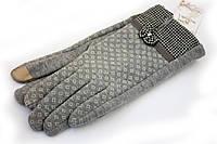 Трикотажные перчатки с рисунком, фото 1