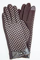 Женские сенсорные перчатки с бантиком, фото 1