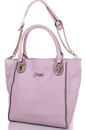 Женская красивая сумка из качественного кожезаменителя GUSSACI (ГУССАЧИ) TUGUSB13-0095-9 (серый)